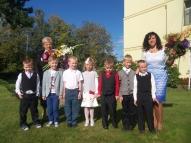Sešgadīgo bērnu grupa. Audzinātāja Zaiga Šīre, skolotāja palīdze Sarmīte Daņilova.