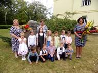 5,6gadīgo bērnu grupa. Audzinātājas Zaiga Šīre, Larisa Radzeviča, skolotāja palīgs Sarmīte Daņilova