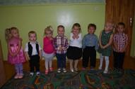 3,4gadīgo bērnu grupa. Audzinātājas Baiba Dišteina un Lelde Lūsiņa, skolotāja palīgs Laura Šļumba
