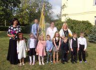 5,6gadīgo bērnu grupa. Audzinātājas Zaiga Šīre, Larisa Radzeviča, skolotāja palīgs Linda Jansone