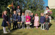 5,6gadīgo bērnu grupa. Audzinātāja Zaiga Šīre, skolotāja palīgs Linda Jansone